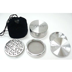 "Diamond Grind Large 3"" aluminum 4 part grinder"