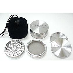 "Diamond Grind Large 3"" aluminum 4 part grinder"